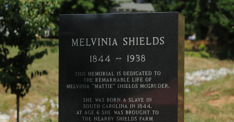 Memorial for Melvinia Shields (1844-1938) Shows How Far the United States HasCome