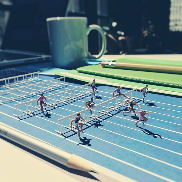 miniature scenes by derrick lin mardser on instagram 14 Guy Creates Tiny Moments on His Desk Using Office Supplies and Huge Collection of Miniatures