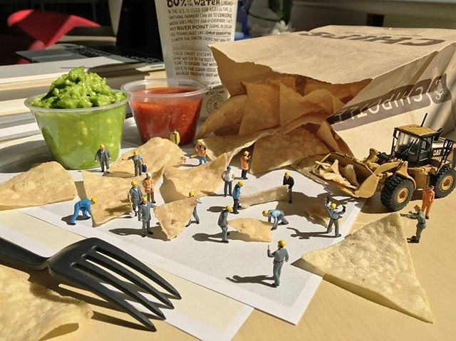 miniature scenes by derrick lin mardser on instagram 2 Guy Creates Tiny Moments on His Desk Using Office Supplies and Huge Collection of Miniatures