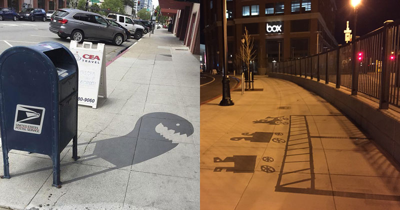 This Street Artist is Painting Fake Shadows and Making People Do DoubleTakes