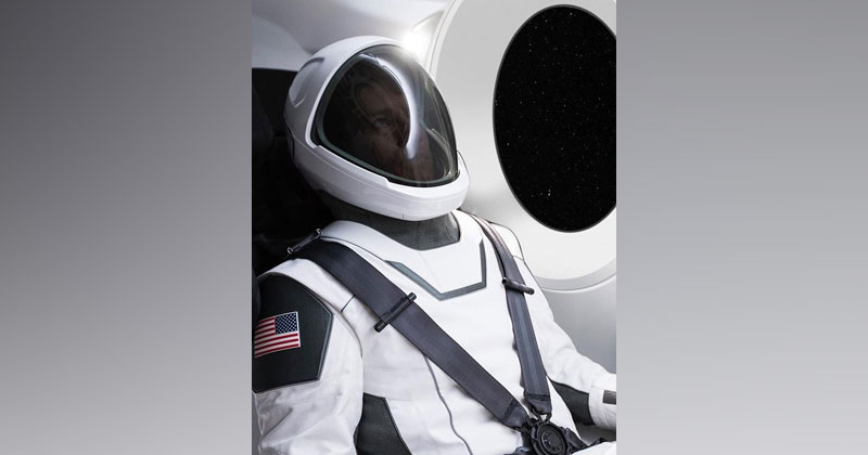 Elon Musk Just Unveiled the First Ever Photo of the SpaceX Spacesuit and it Looks Awesome