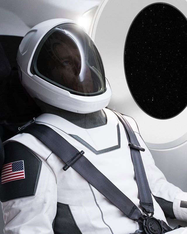 spacex spacesuit elon musk instagram Elon Musk Just Unveiled the First Ever Photo of the SpaceX Spacesuit and it Looks Awesome
