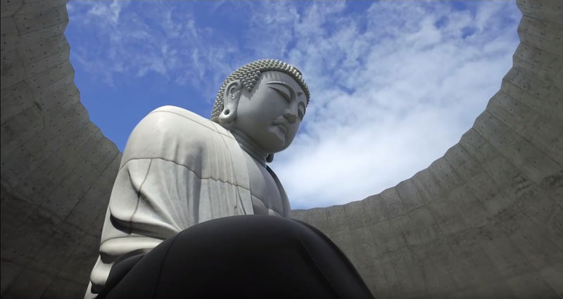 the hidden buddha surrounded by a hill of lavender 8 The Hidden Buddha Surrounded by a Hill of 150,000 Lavenders