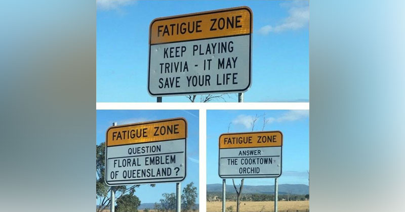 There are Roads in Australia that are So Boring they Have Trivia Signs to Keep Drivers Alert