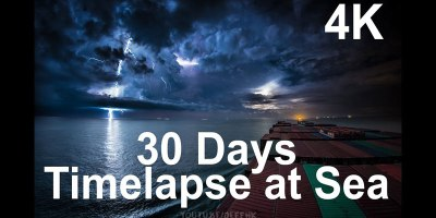 30 Day Timelapse at Sea from the Red Sea to Hong Kong [4K]