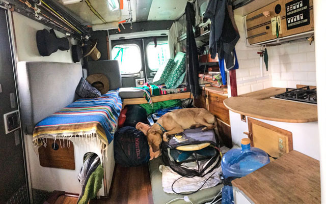 ambulance conversion van life ian dow 7 Guy Converts Old Ambulance He Bought Off eBay and Starts Driving South