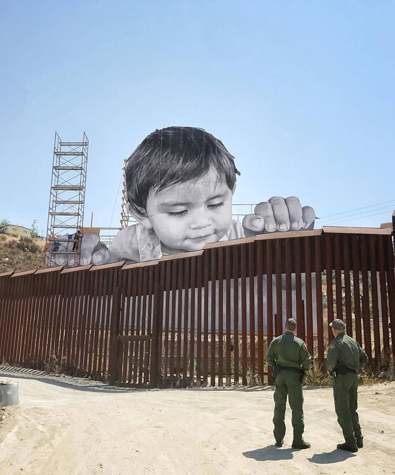 art installation at us mexico border by jr 2 Meanwhile on the Mexican Side of the US/Mexico Border