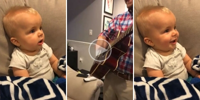 Son Hears Dad's Guitar for the FirstTime