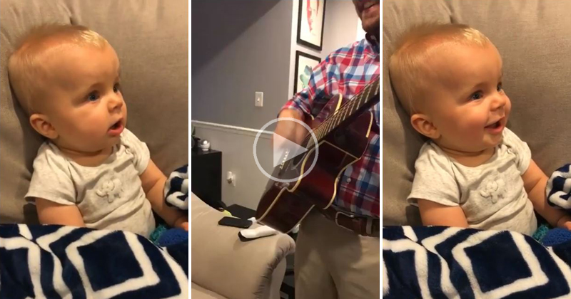 Son Hears Dad's Guitar for the First Time