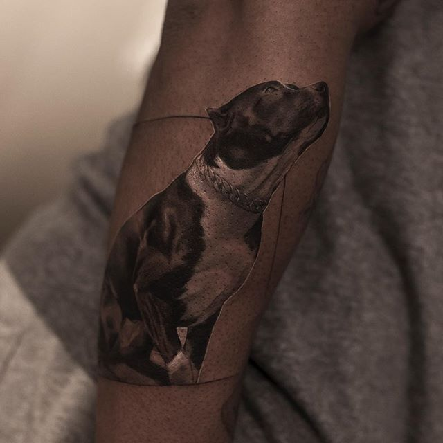 black and white tattoos look like photos printed on skin by inal bersekov 6 These Black and White Tattoos Look Like Photos Printed on Skin