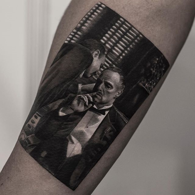 black and white tattoos look like photos printed on skin by inal bersekov 8 These Black and White Tattoos Look Like Photos Printed on Skin