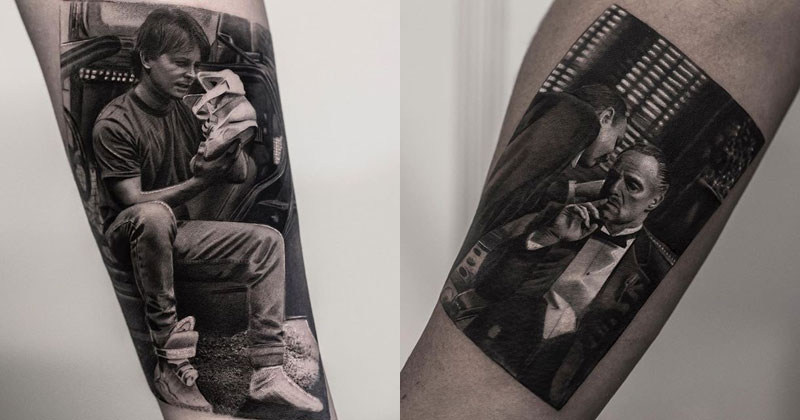 These Black and White Tattoos Look Like Photos Printed on Skin