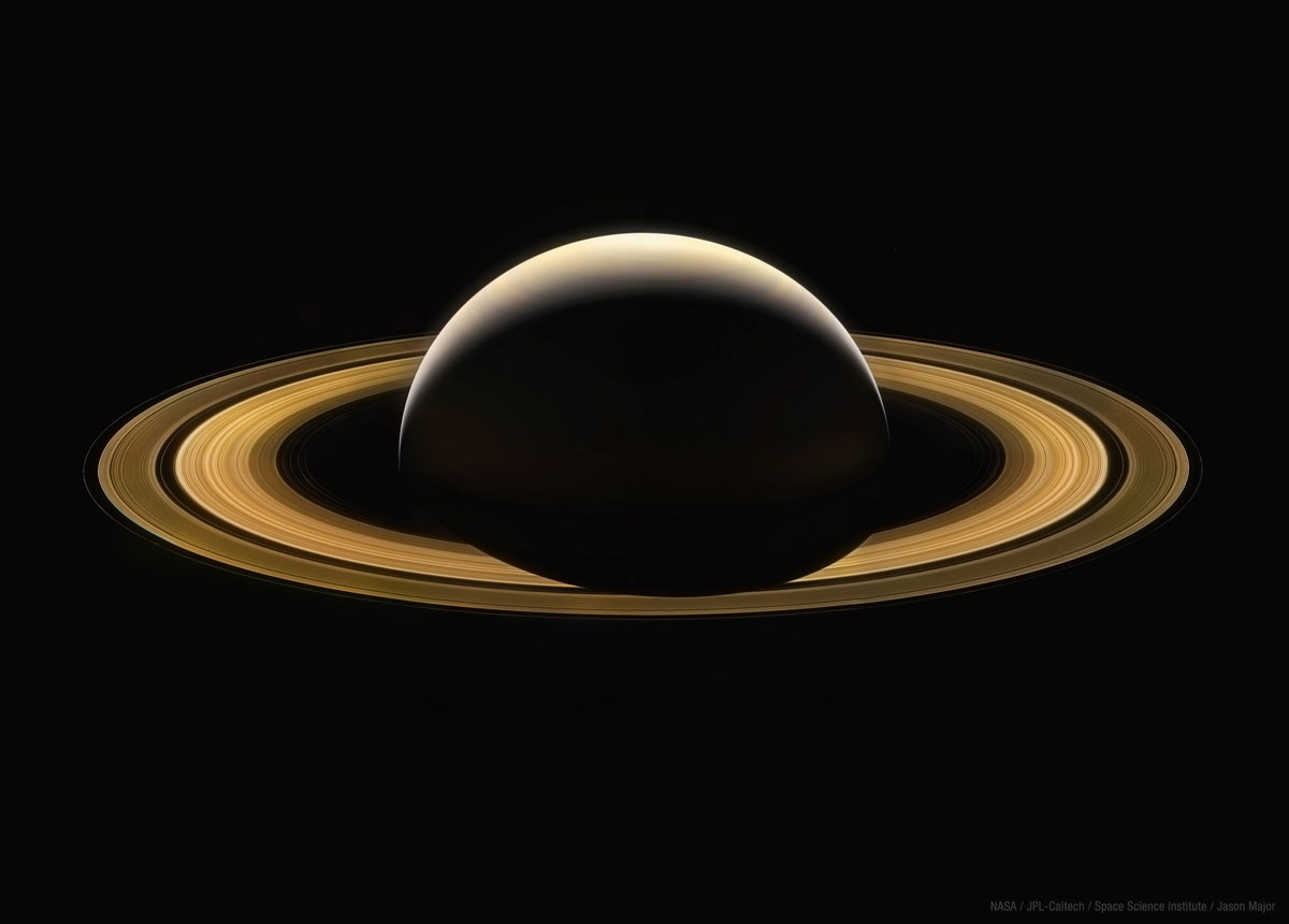 cassini final full image of saturn Cassinis Final Full Image of Saturn