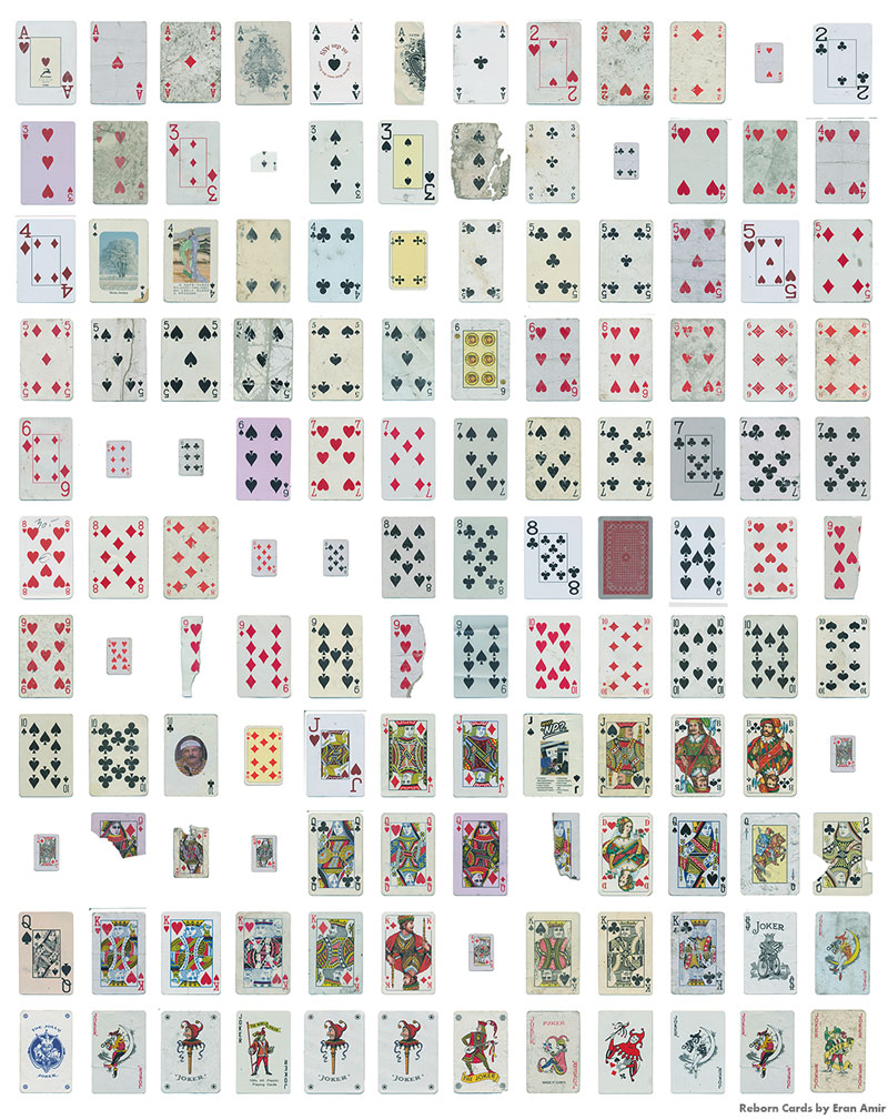guy completes full playing card deck from randomly found cards around the world 6 Guy Completes Full Playing Card Deck from Randomly Found Cards Around the World