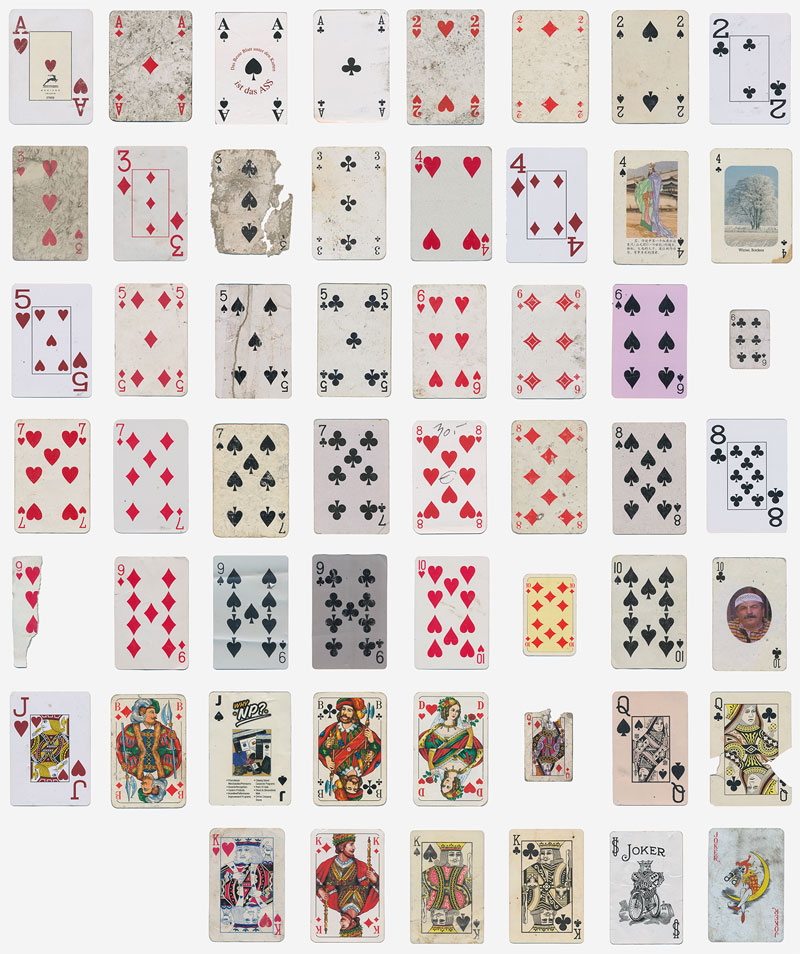 guy completes full playing card deck from randomly found cards around the world 7 Guy Completes Full Playing Card Deck from Randomly Found Cards Around the World