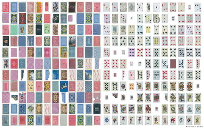 Guy Completes Full Playing Card Deck from Randomly Found Cards Around the World