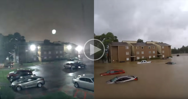Timelapse Shows Devastating Speed of Houston Flooding from Hurricane Harvey