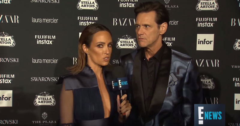 Jim Carrey Becomes 1st Person to Ever Make a Fashion Week Red Carpet InterviewEntertaining