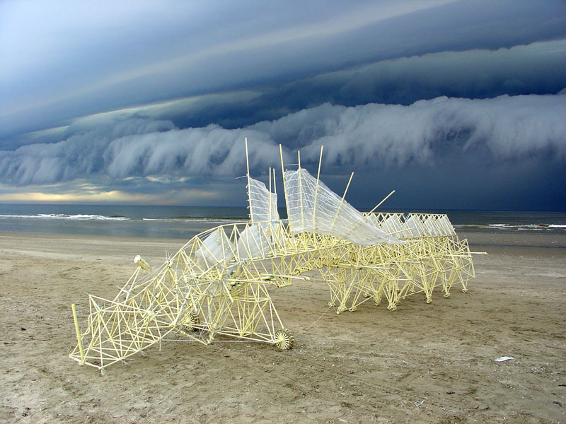 kinetic beach walkers powered by the wind by theo jansen 1 Strandbeests: The Kinetic Beach Walkers Powered by the Wind