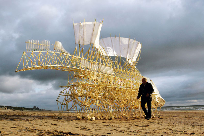 kinetic beach walkers powered by the wind by theo jansen 15 Strandbeests: The Kinetic Beach Walkers Powered by the Wind