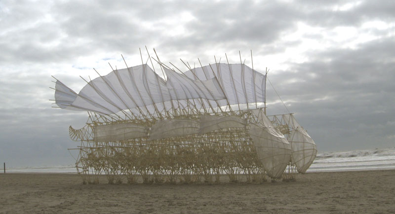 kinetic beach walkers powered by the wind by theo jansen 5 Strandbeests: The Kinetic Beach Walkers Powered by the Wind