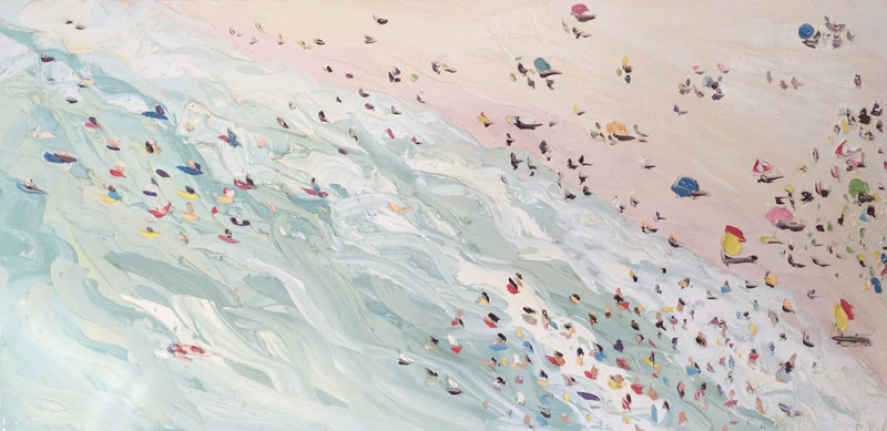 sally west art beach snow oil painting thick 10 Sally West Uses Thick Dabs of Paint to Create Amazing Textural Surfaces and Outdoor Scenes