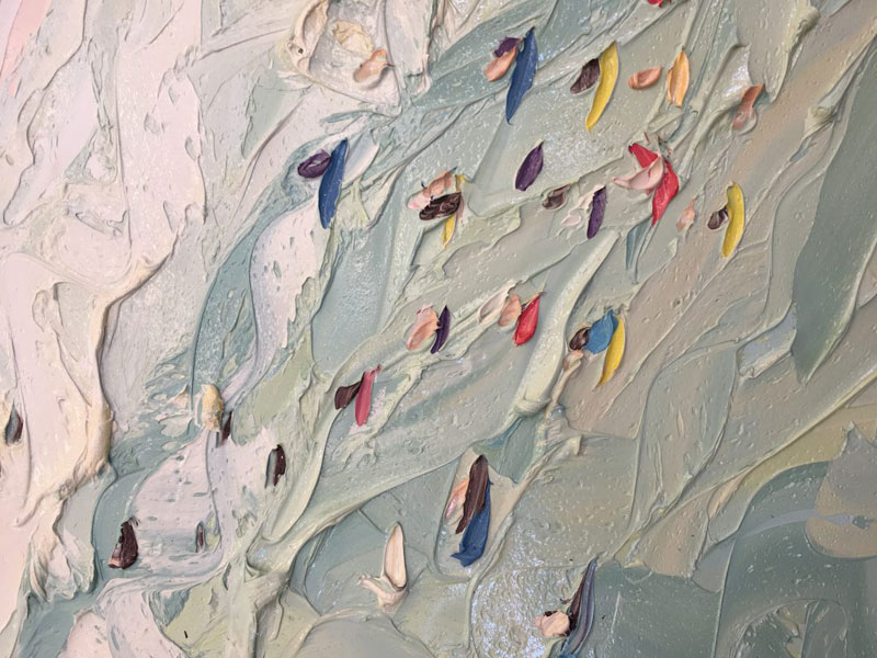 sally west art beach snow oil painting thick 11 Sally West Uses Thick Dabs of Paint to Create Amazing Textural Surfaces and Outdoor Scenes