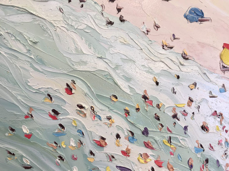 sally west art beach snow oil painting thick 12 Sally West Uses Thick Dabs of Paint to Create Amazing Textural Surfaces and Outdoor Scenes