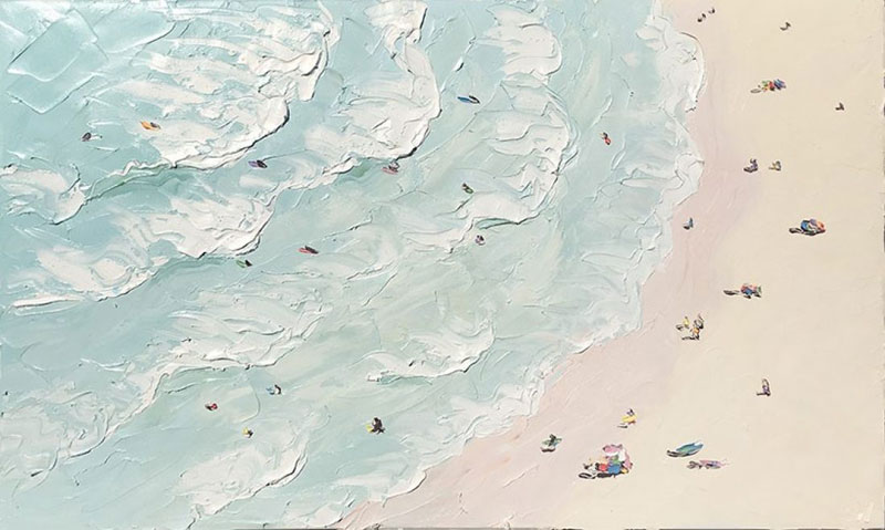 sally west art beach snow oil painting thick 2 Sally West Uses Thick Dabs of Paint to Create Amazing Textural Surfaces and Outdoor Scenes