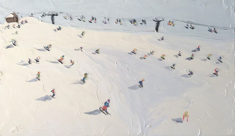 sally west art beach snow oil painting thick 3 Sally West Uses Thick Dabs of Paint to Create Amazing Textural Surfaces and Outdoor Scenes