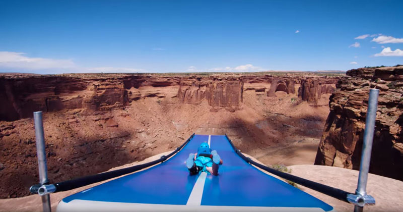 Slip 'N Slide BASE Jumping