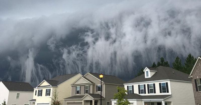 Storm Cloud in Georgia Looks Like Tsunami in theSky