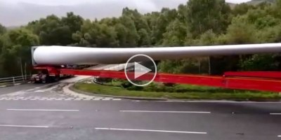 Just a 200 Ft Long Truck Making a Perfect Right-Hand Turn