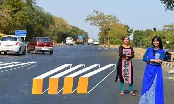 3d crosswalk 1 Cities Around the Globe are Testing 3D Crosswalks to Slow Down Drivers