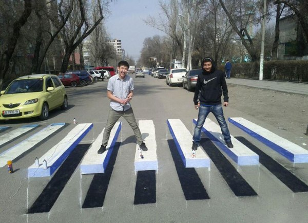 3d crosswalk 2 Cities Around the Globe are Testing 3D Crosswalks to Slow Down Drivers