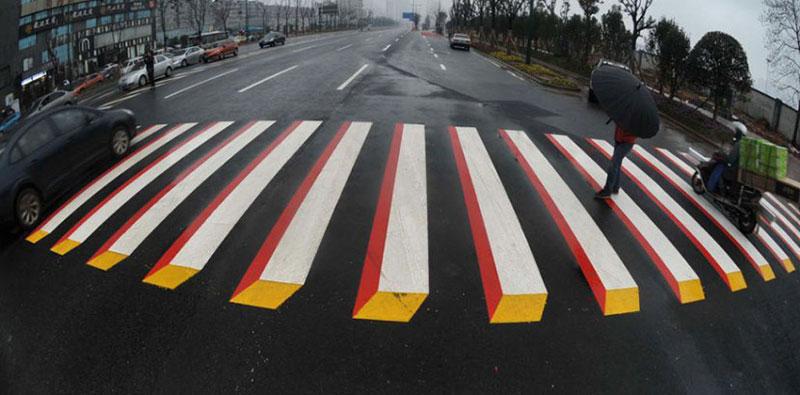 3d crosswalk 3 Cities Around the Globe are Testing 3D Crosswalks to Slow Down Drivers