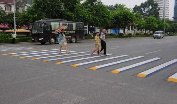 3d crosswalk 6 Cities Around the Globe are Testing 3D Crosswalks to Slow Down Drivers