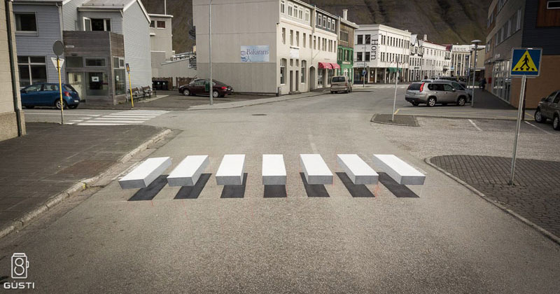Cities Around the Globe are Testing 3D Crosswalks to Slow Down Drivers
