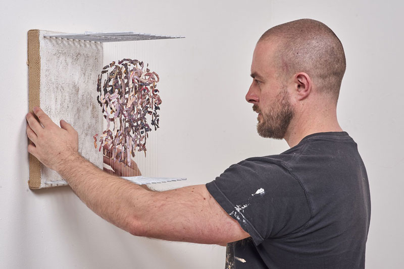 3d portraits made from suspended paint strokes by chris dorosz 7 Amazing 3D Portraits Made from Suspended Paint Strokes