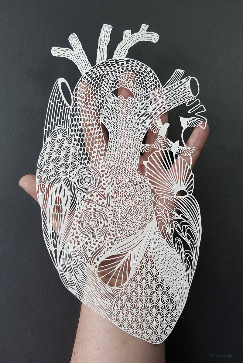 amazing hand cut paper animals by pippa dyrlaga 2 Amazing Hand Cut Paper Animals by Pippa Dyrlaga