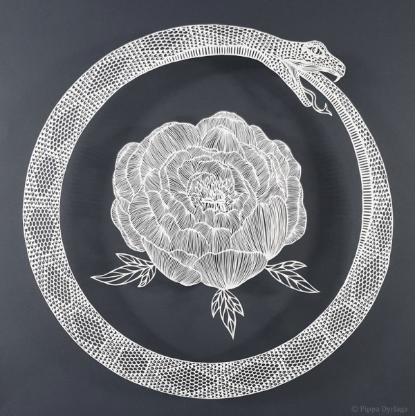 amazing hand cut paper animals by pippa dyrlaga 5 Amazing Hand Cut Paper Animals by Pippa Dyrlaga