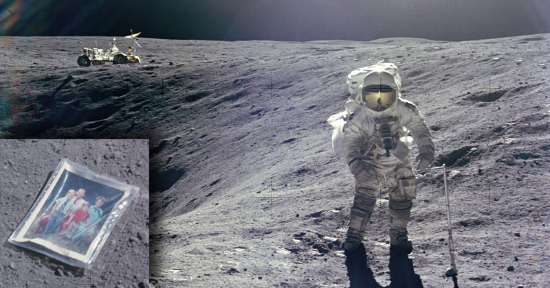 The First and Only Family Photo on the Moon