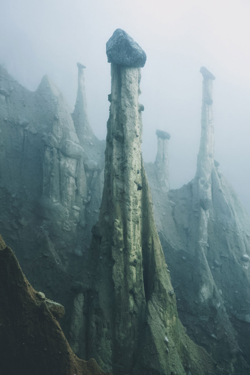 earth pyramids of south tyrol kilian schonberger otherworld 9 The Earth Pyramids of Italy: Where Boulders Perch Atop Pillars of Clay