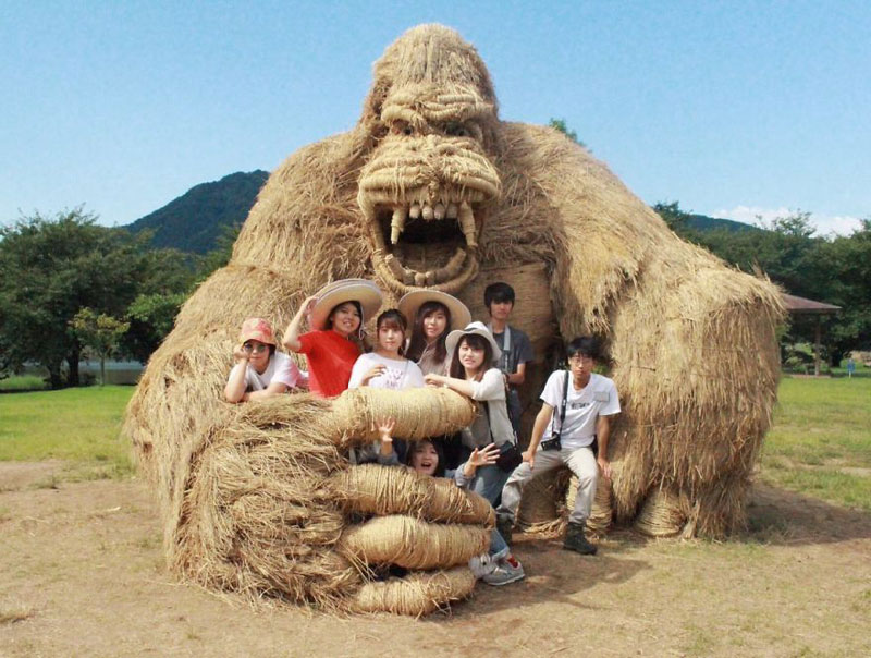 giant straw animals japan wara art festival 2017 7 Every Year Japanese Art Students Get Together and Make Giant Animals Out of Straw