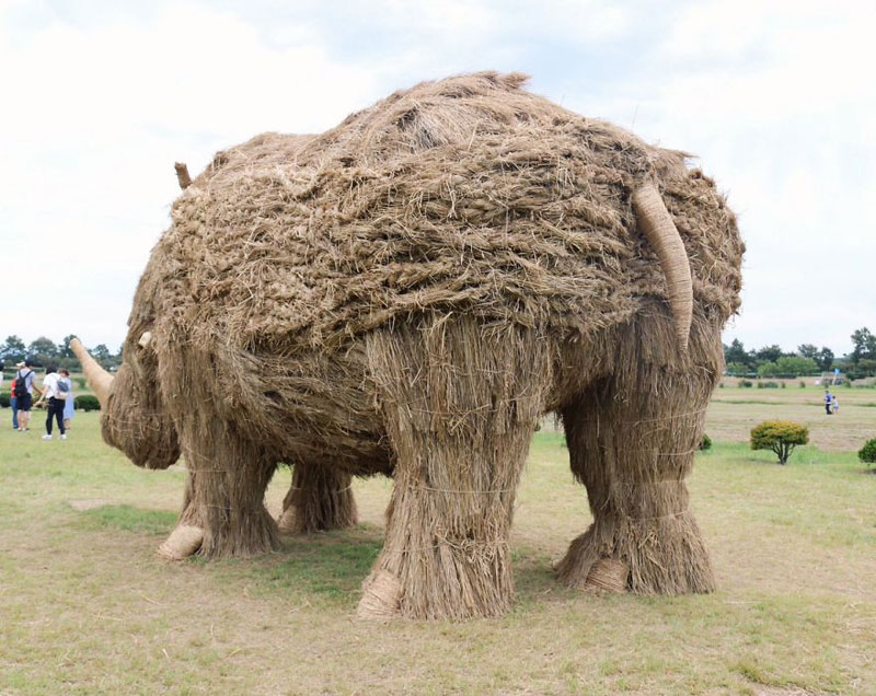 giant straw animals japan wara art festival 2017 8 Every Year Japanese Art Students Get Together and Make Giant Animals Out of Straw