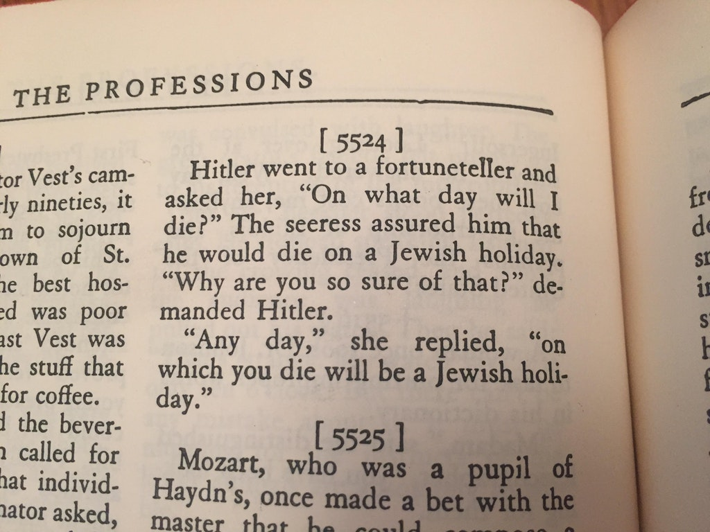 Guy Finds Joke Book from 1940 with a HitlerReference