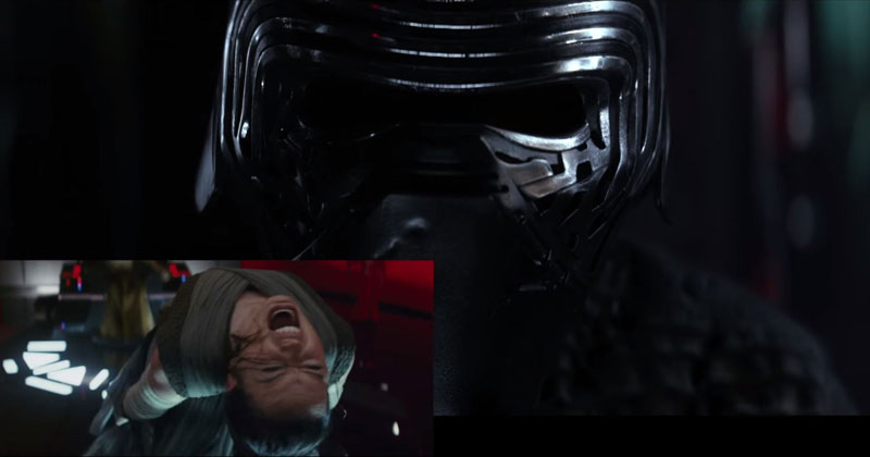 Kylo Ren Reacts to the New Star Wars Trailer