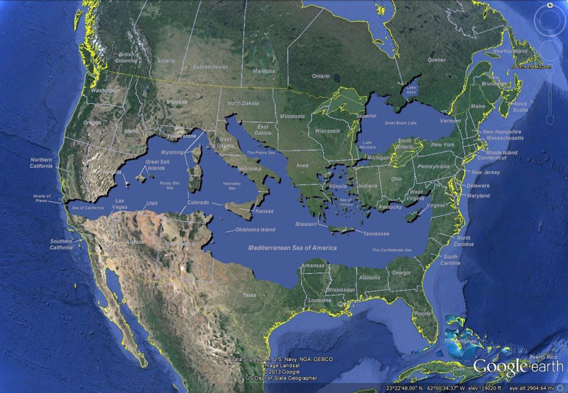 5 Interesting Maps That Use the United States as a Reference Point