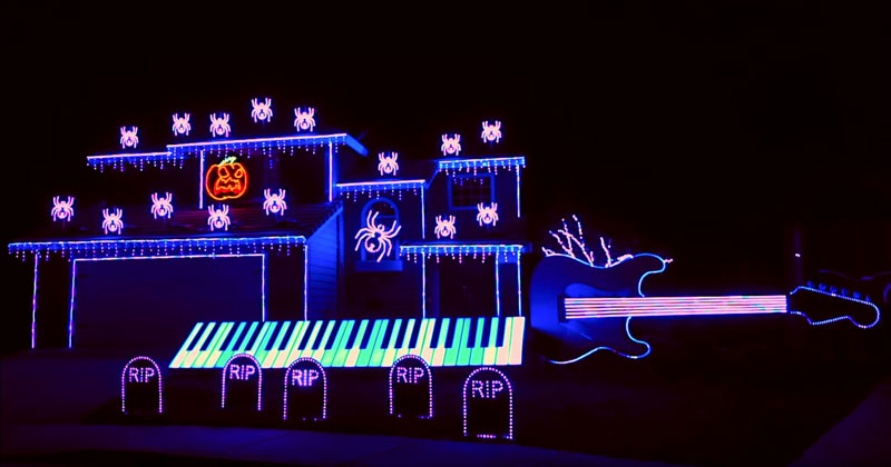 Halloween Light Show Nightmare Before Christmas