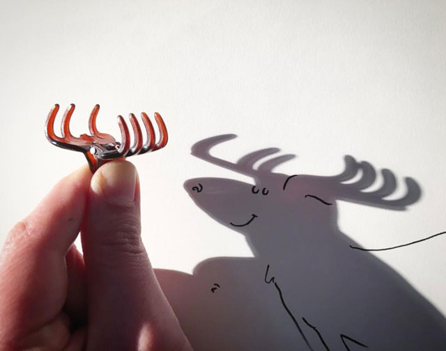 shadow art doodles vincent bal 1 Artist Casts Shadows and Doodles on the Results (21 Photos)